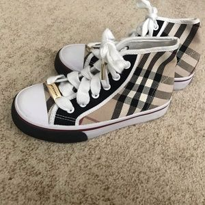 Burberry kids sneakers 12 high top check shoes